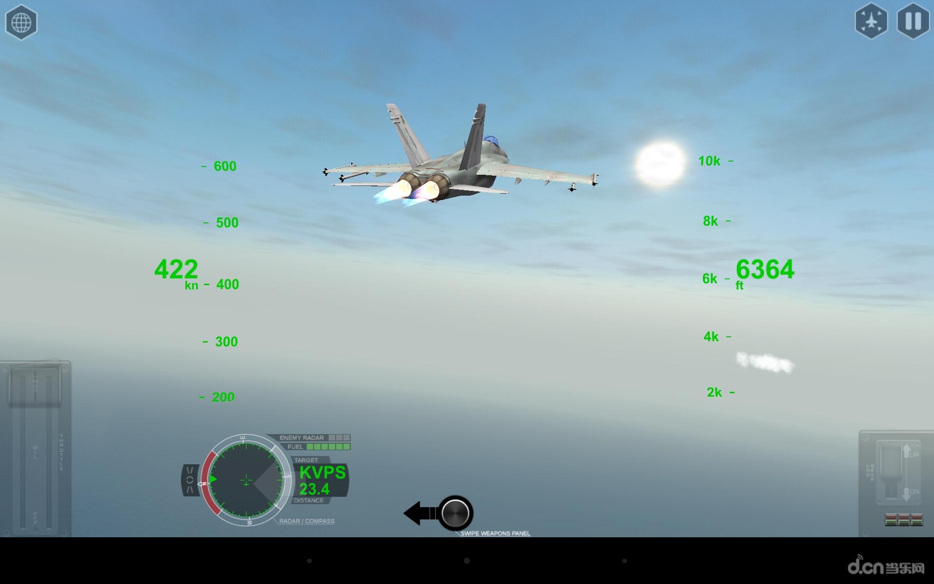 简介 《模拟空战 airfighters pro》是一款模拟飞行控制游戏,游戏