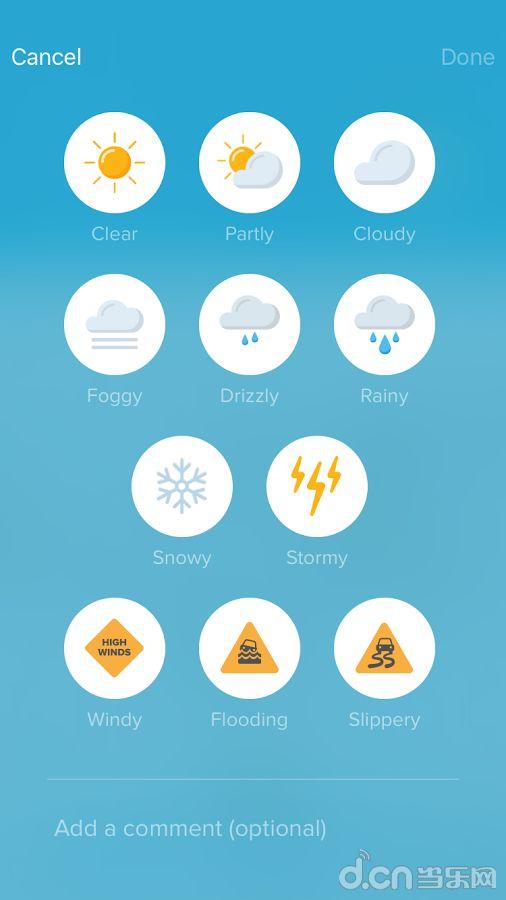英语天气图片素材