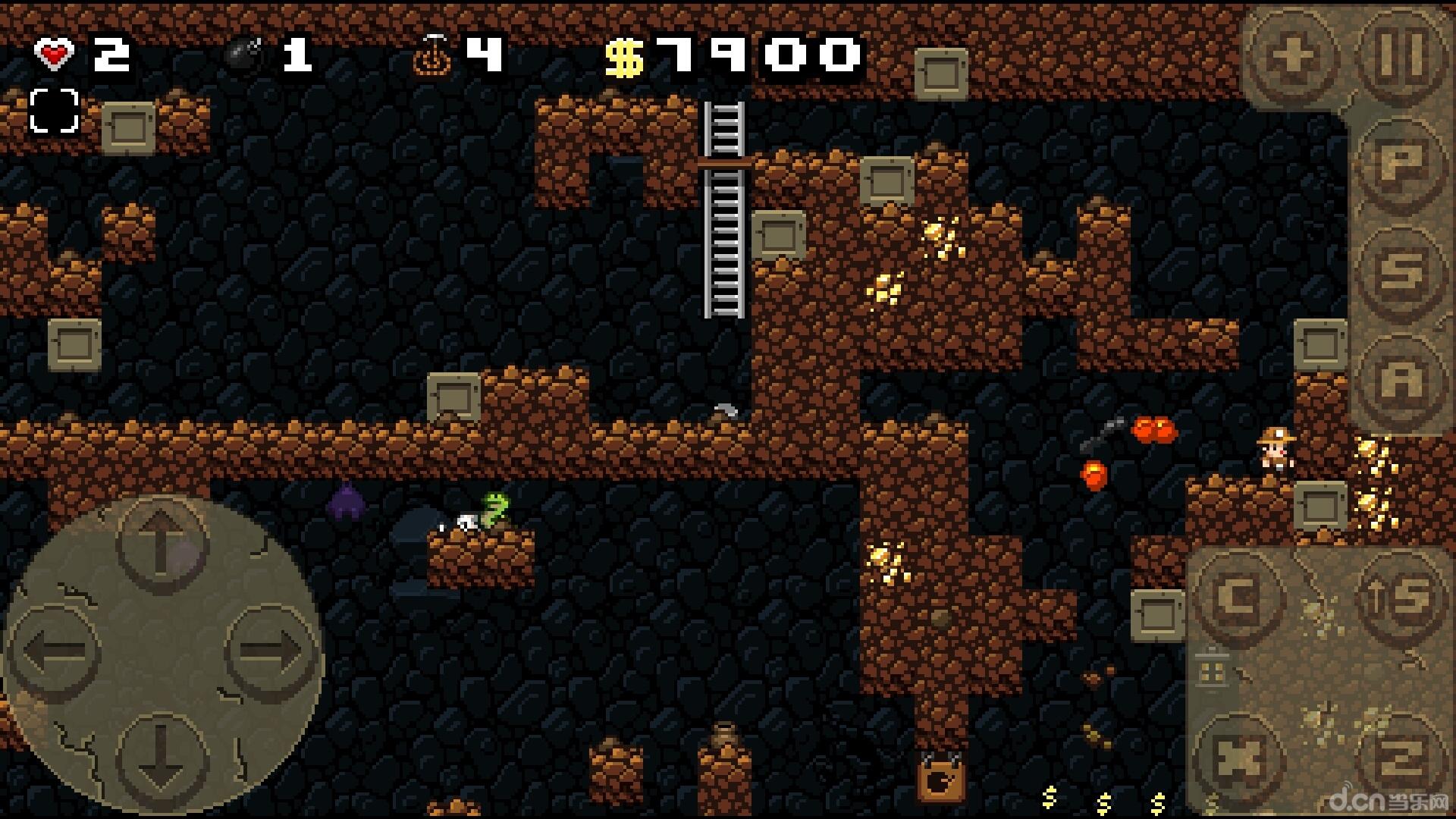"""小编简评:""""步步为营"""" 《洞穴探险 spelunky classic》是一款地牢探险"""